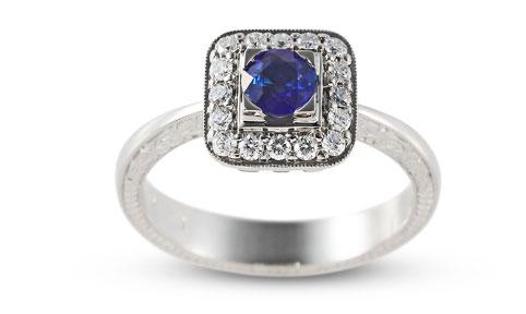Divine zafír eljegyzési gyűrű