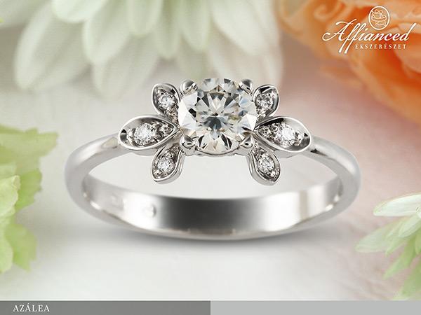 Azálea - eljegyzési gyűrű